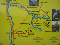 Resavska cave - travel map
