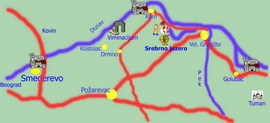 Srebrno jezero - travel map