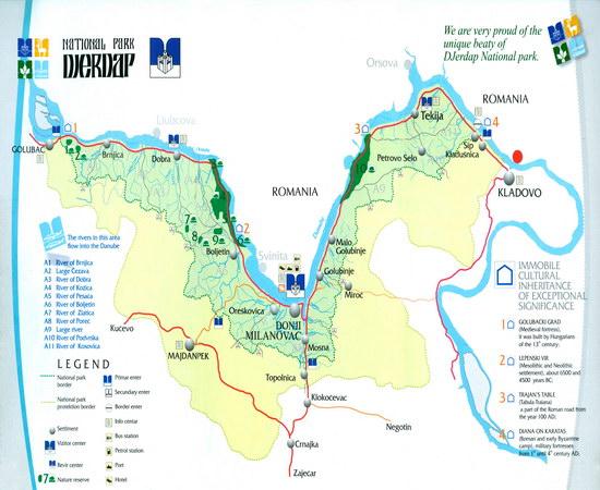 Istocna Srbija Turisticka Karta