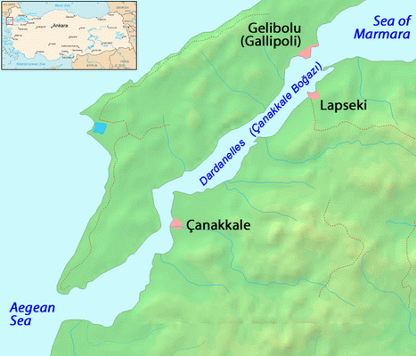 Dardanelles Map